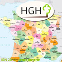 Carte HGH champ d'action